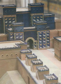 Model of Babylon's Ishtar Gate