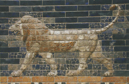 Tiled lion from the Ishtar Gate